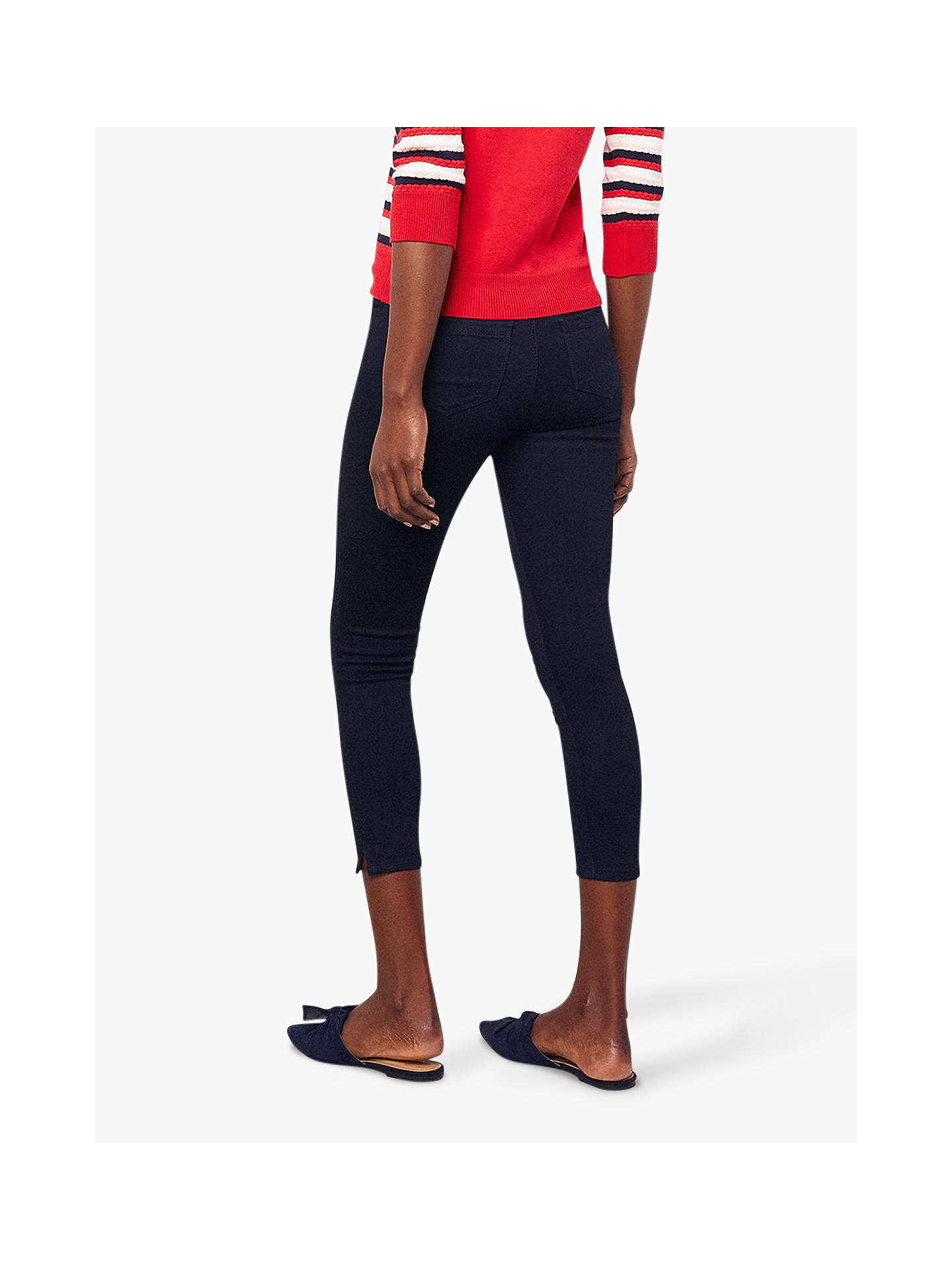 31e72a32885a ... Buy Oasis Grace Capri Trousers, Navy, 14 Online at johnlewis.com ...