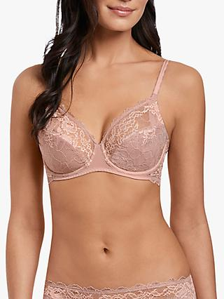 Wacoal Lace Perfection Underwired Bra, Rose Mist