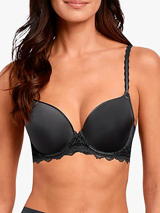 Wacoal Lace Perfection Contour Bra, Charcoal