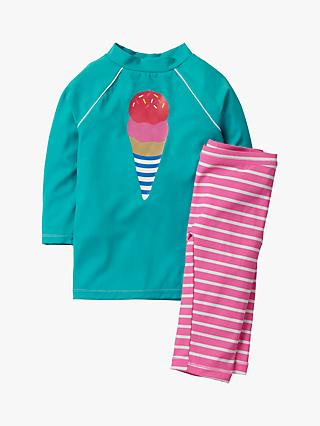 Mini Boden Girls' 2 Piece Surf Set, Green