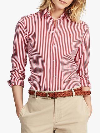 7bef7e33 Polo Ralph Lauren Kendal Stripe Shirt, White/Cactus Flower
