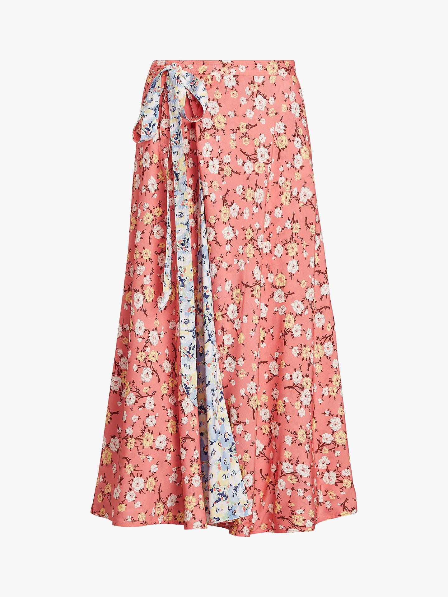 SkirtBlushmulti Polo Reversible Floral Lauren Maxi Ralph Print MSzpqUV