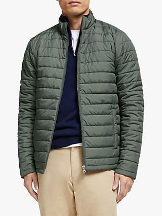 John Lewis & Partners Shower Resistant Recycled Quilted Jacket, Khaki