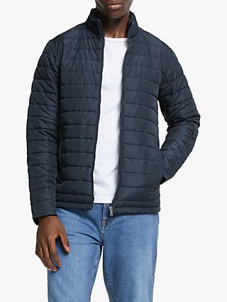 John Lewis & Partners Shower Resistant Recycled Quilted Jacket, Navy