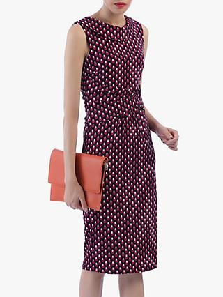 Jolie Moi Roll Collar Sleeveless Shift Dress