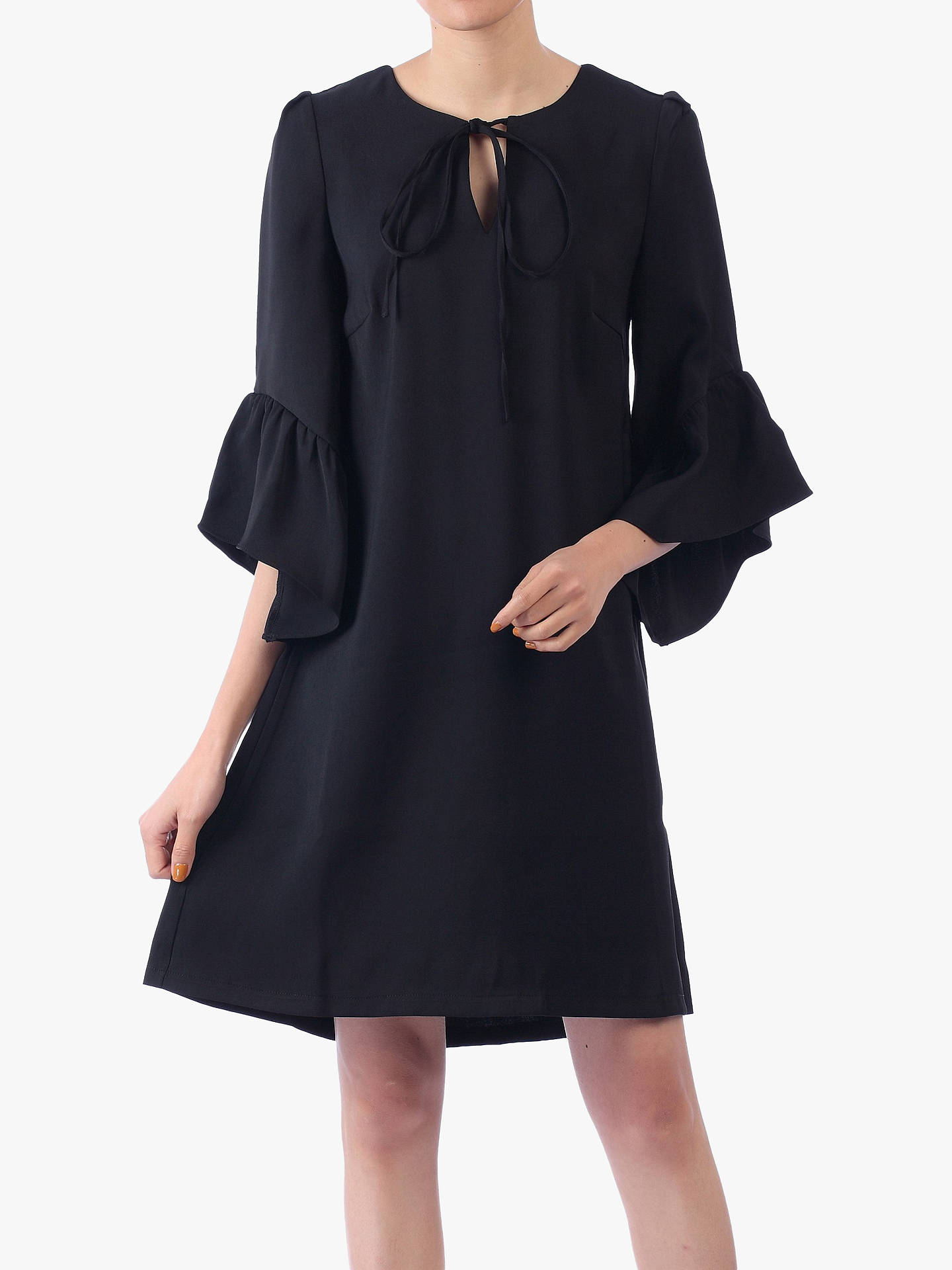 Buy Jolie Moi Flare Sleeve Tunic Dress, Black, 10 Online at johnlewis.com