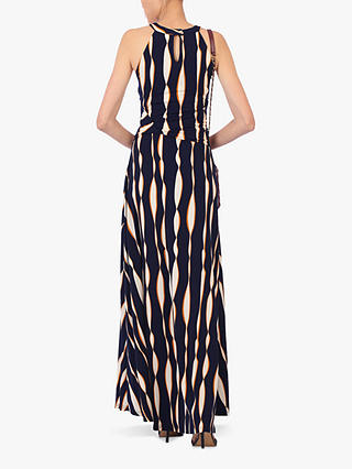 Buy Jolie Moi Abstract Print Halter Neck Maxi Dress, Navy/Multi, 8 Online at johnlewis.com