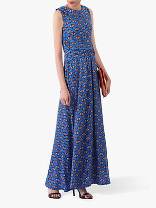 Jolie Moi Print Roll Collar Dress, Blue/Multi