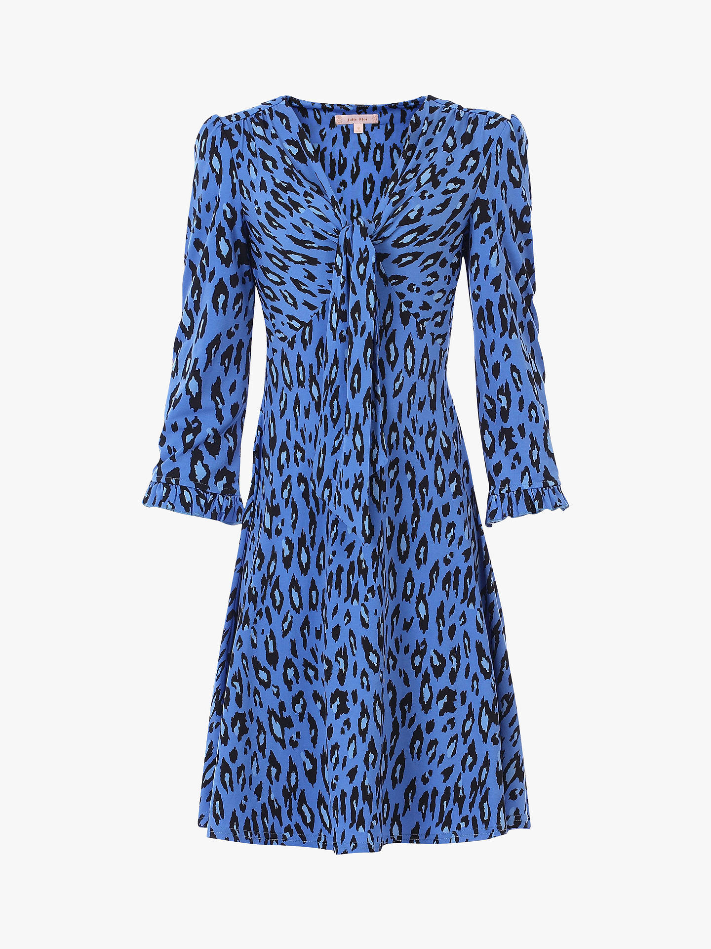 Buy Jolie Moi Leopard Print Jersey Dress, Blue, 14 Online at johnlewis.com