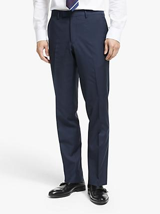 John Lewis & Partners Zegna Wool Tailored Suit Trousers, Navy