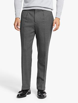 John Lewis & Partners Zenga Puppytooth Wool Tailored Suit Trousers