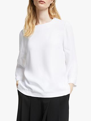 John Lewis & Partners 3/4 Sleeve Shell Top