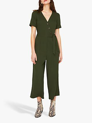 7510b7c120c Warehouse Asymmetric Button Jumpsuit