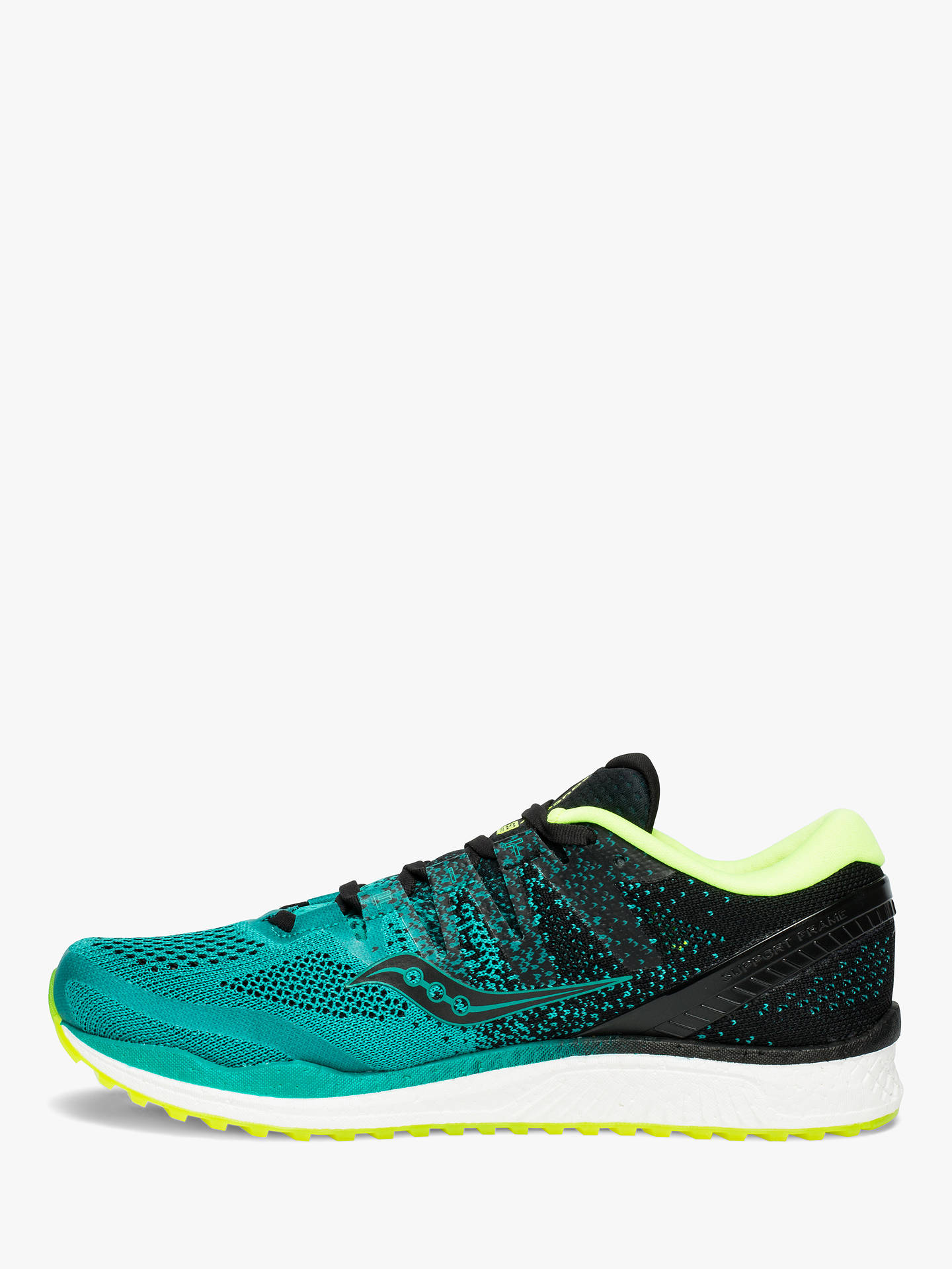 Buy Saucony Freedom ISO 2 Men's Running Shoes, Teal/Black, 9 Online at johnlewis.com