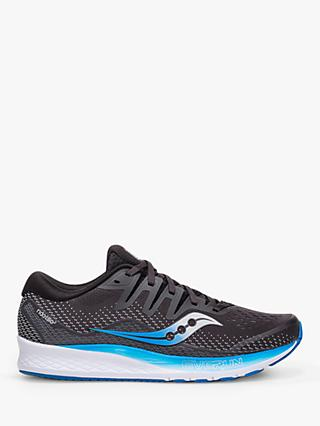 Saucony Ride ISO 2 Men's Running Shoes, Black/Blue