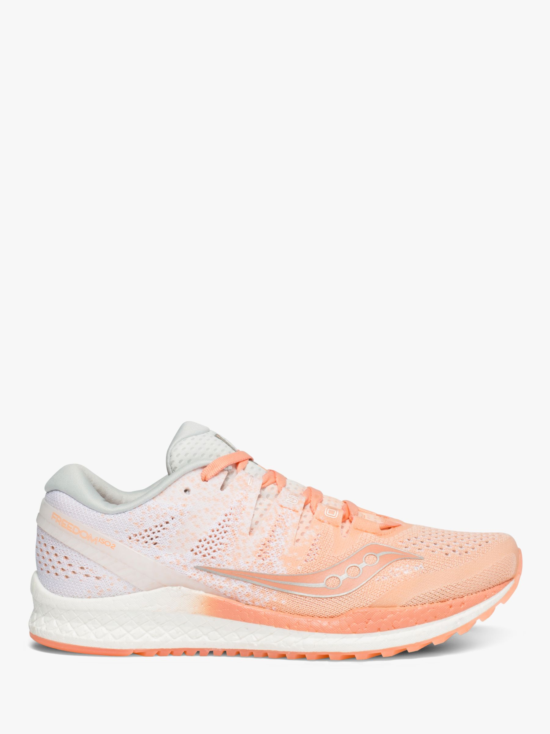 Saucony Saucony Freedom ISO 2 Women's Running Shoes, Peach/White