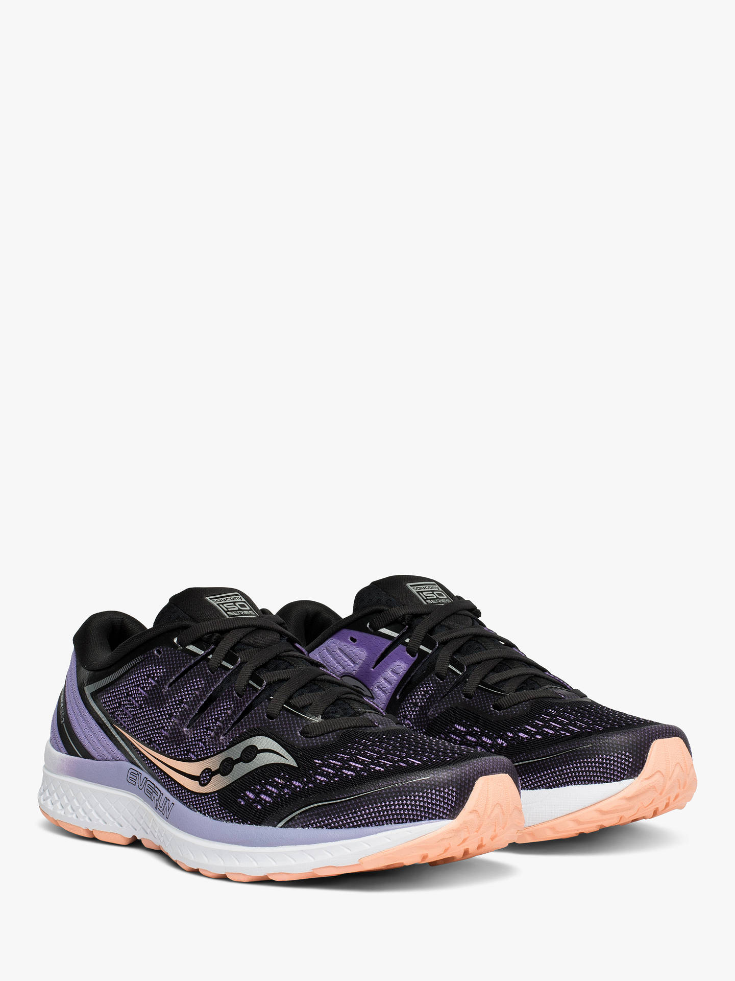 5a5eb43e00bcc ... Buy Saucony Guide ISO 2 Women's Running Shoes, Black/Purple, 4 Online at