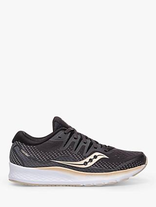 Saucony Ride ISO 2 Women's Running Shoes, Black/Gold