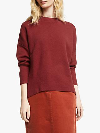 John Lewis & Partners Merino Blend High Neck Relaxed Crew Neck Jumper