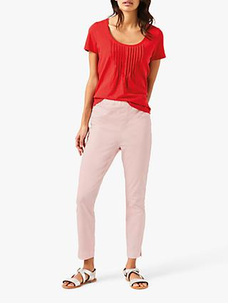 White Stuff Jade Cropped Jeggings, Spring Pink