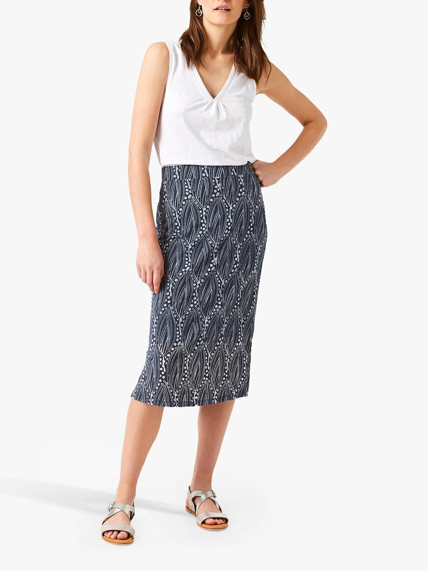 fa7abdd35 Buy White Stuff Golden State Burnout Midi Skirt, Navy, 6 Online at  johnlewis.