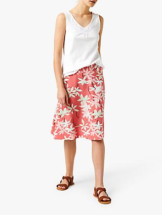 White Stuff Reversible Palm Springs Skirt, Flamingo Pink
