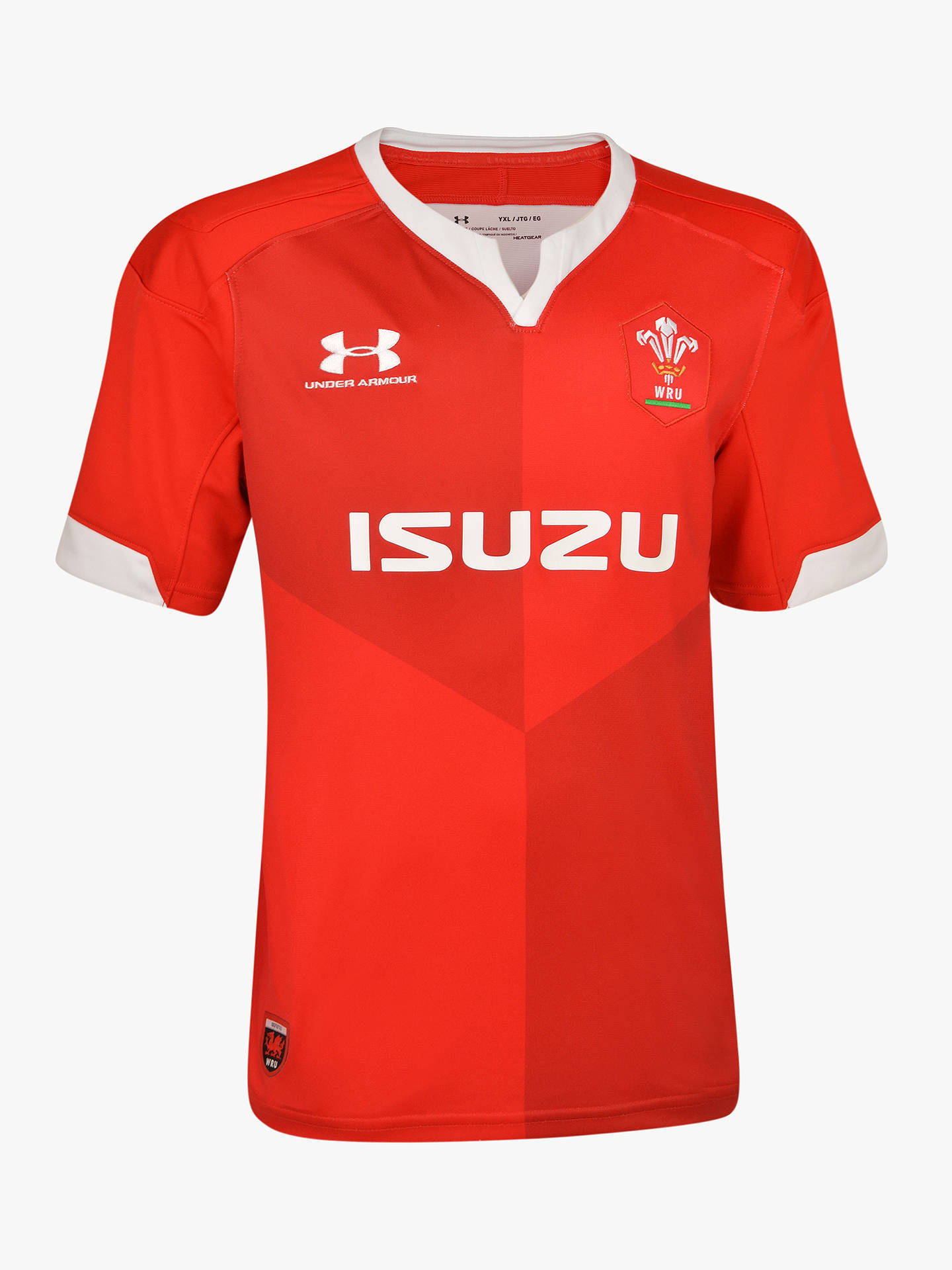 brand new 662d3 4e62f Under Armour Wales WRU 2019/20 Home Replica Rugby Shirt, Red