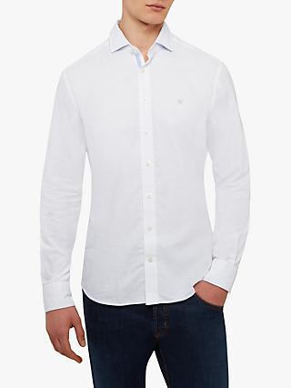 a812687cdf8f Hackett London Slim Fit Kent Classic Shirt, White/Sky