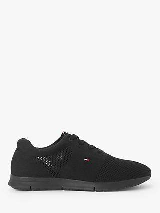 Tommy Hilfiger Tobias Lightweight Knitted Trainers, Black