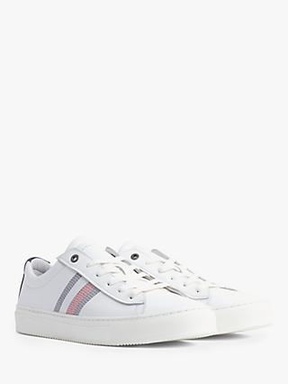 Tommy Hilfiger Clean Premium Corporate Cupsole Leather Trainers, White