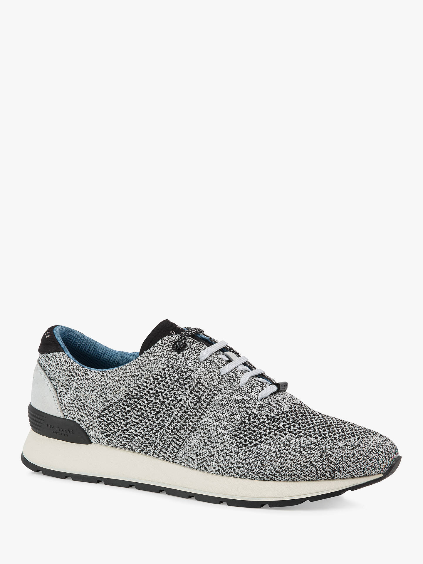 cf80bd55205 ... Buy Ted Baker Hillron Knitted Trainers, Mid Grey, 9 Online at  johnlewis.com
