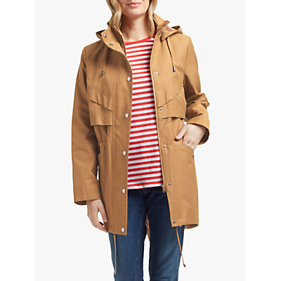 Four Seasons Longline Hooded Jacket, Bronze