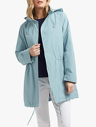 Four Seasons Basic Two Tone Parka, Kingfisher/Silver