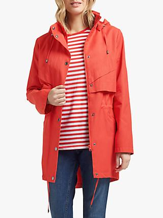 Four Seasons Longline Waist Detail Jacket, Red