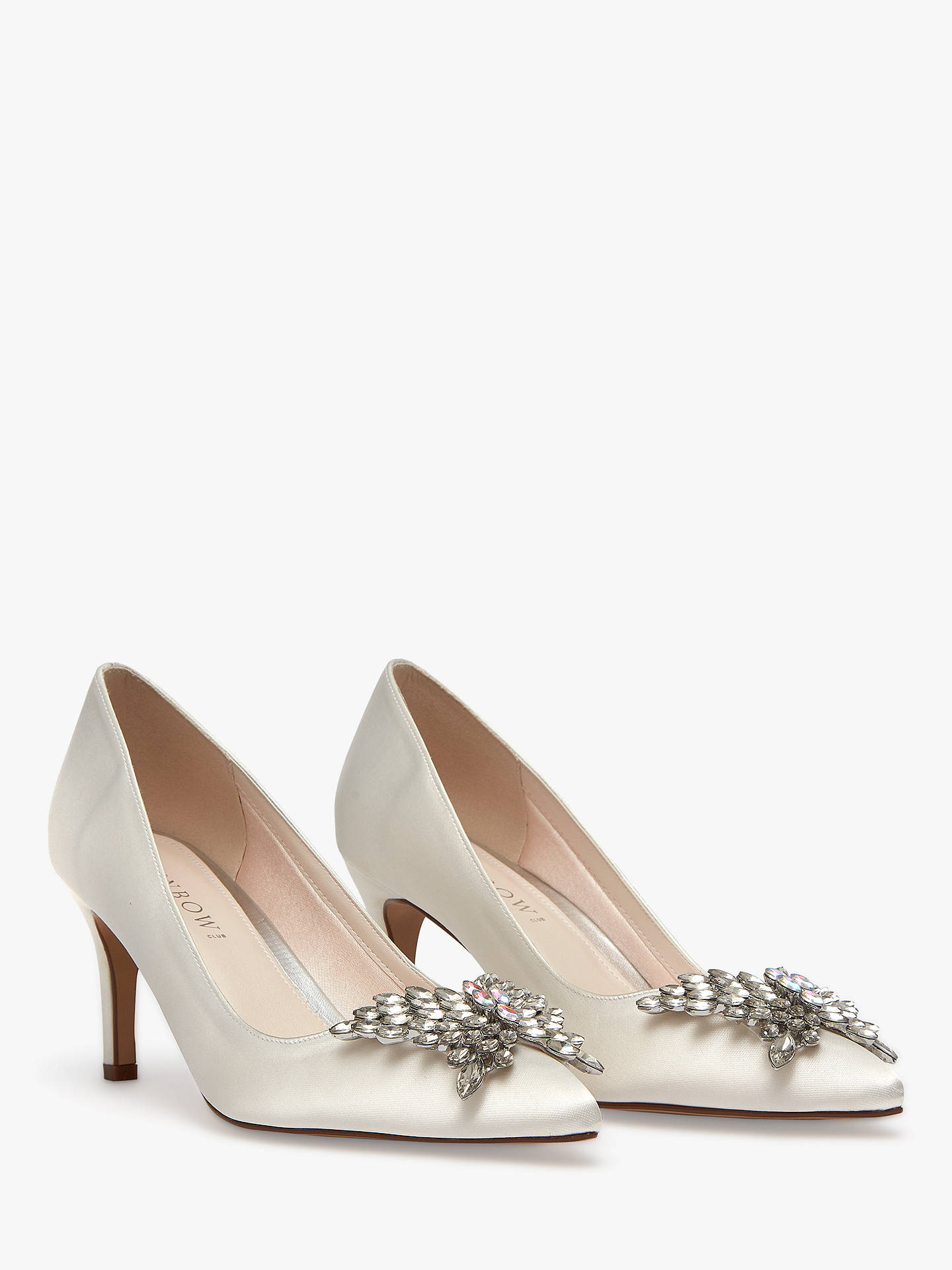 0fcd07654ea12 ... Buy Rainbow Club Amara Stiletto Heel Court Shoes, Ivory Satin, 5 Online  at johnlewis ...