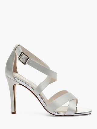 Rainbow Club Reese Stiletto Heel Sandals, Ivory Satin