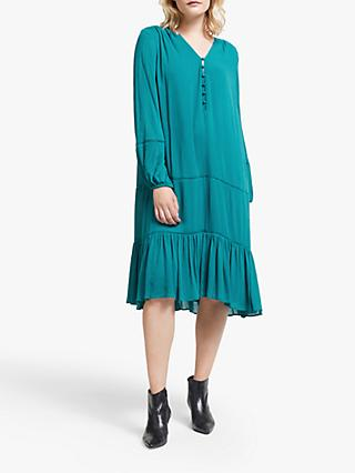 AND/OR Luciana Cutwork Midi Dress, Shaded Spruce