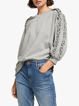 AND/OR Catalina Ruffle Sweatshirt, Grey