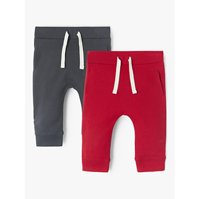 John Lewis & Partners Baby Joggers, Pack of 2, Red/Grey