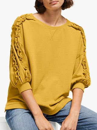 Buy AND/OR Catalina Frill Jumper, Golden Yellow, 16 Online at johnlewis.com