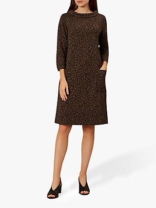 Hobbs Rosalyn Dress, Black Camel