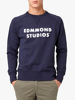 Edmmond Studios Applique Logo Sweatshirt, Navy