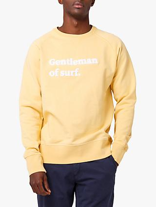 Edmmond Studios Applique Gentleman Of Surf Sweatshirt, Yellow