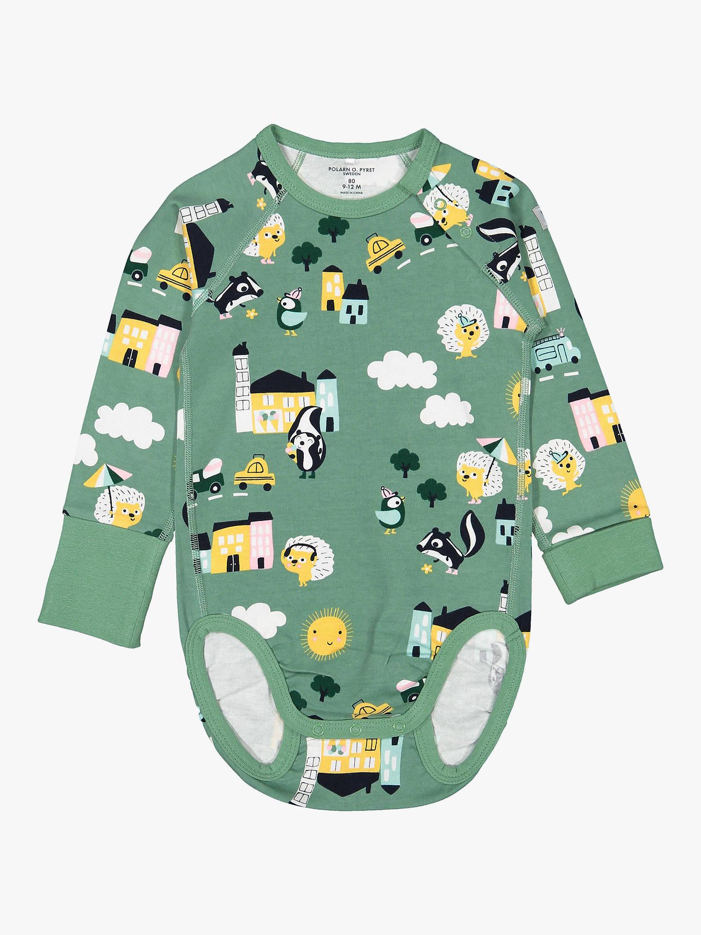 3f9e6811cb6 Buy Polarn O. Pyret Baby GOTS Organic Cotton Town Print Long Sleeve  Bodysuit