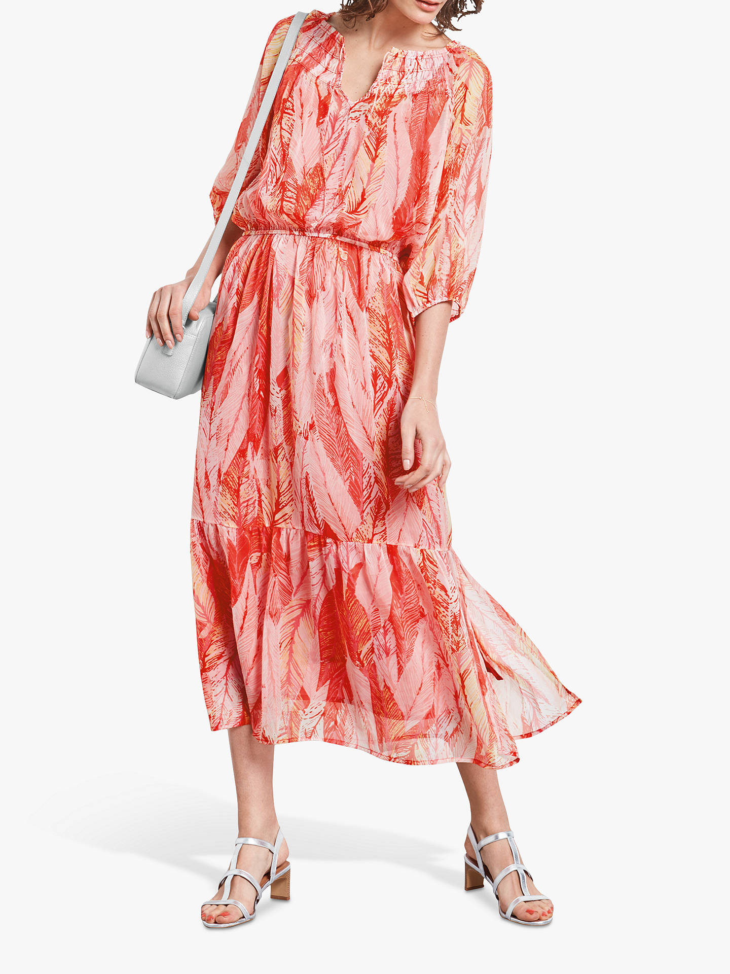 Buy hush Beatrix Maxi Dress, Feather Print, 6 Online at johnlewis.com