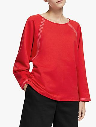 John Lewis & Partners Stitch Raglan Sleeve Top