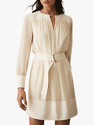 Reiss Finn Soft Sheer Dress, Ivory