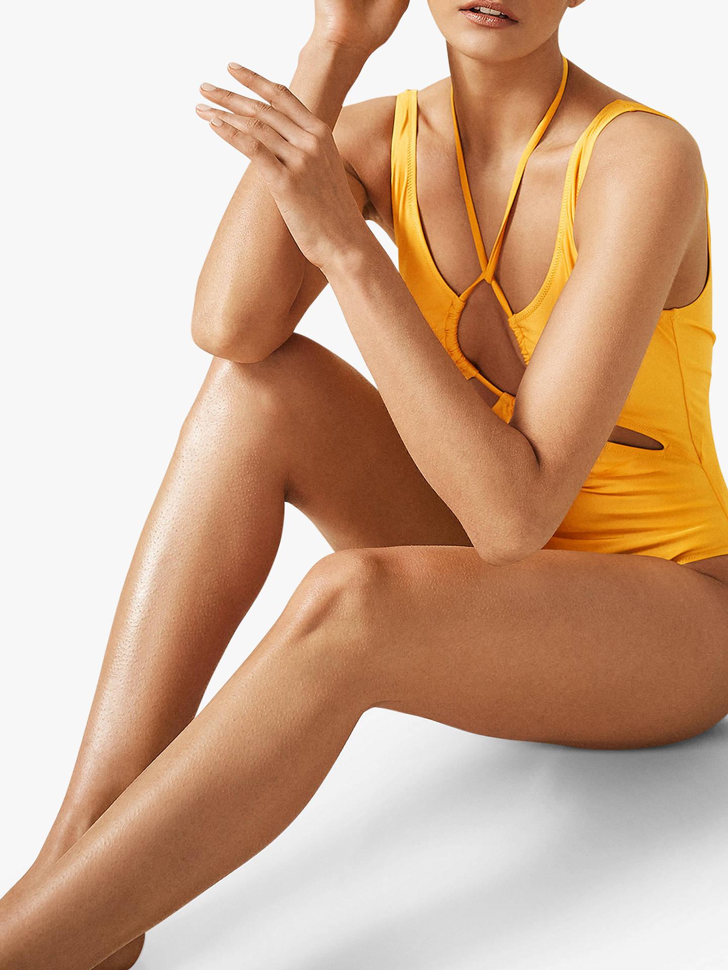 e714650cb14 Reiss Esmerelda Cut Out Swimsuit, Yellow