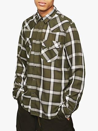 Diesel S-East Large Check Shirt, Khaki Check