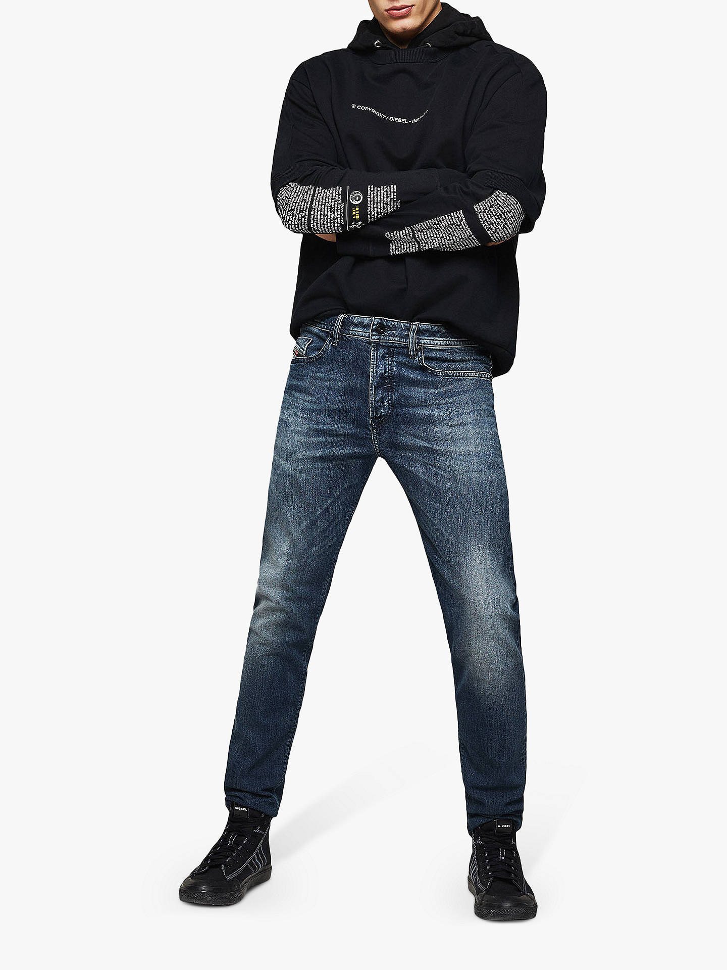 official photos 1f337 3f5cd Diesel Buster Tapered Jeans, Dark Blue 084AS